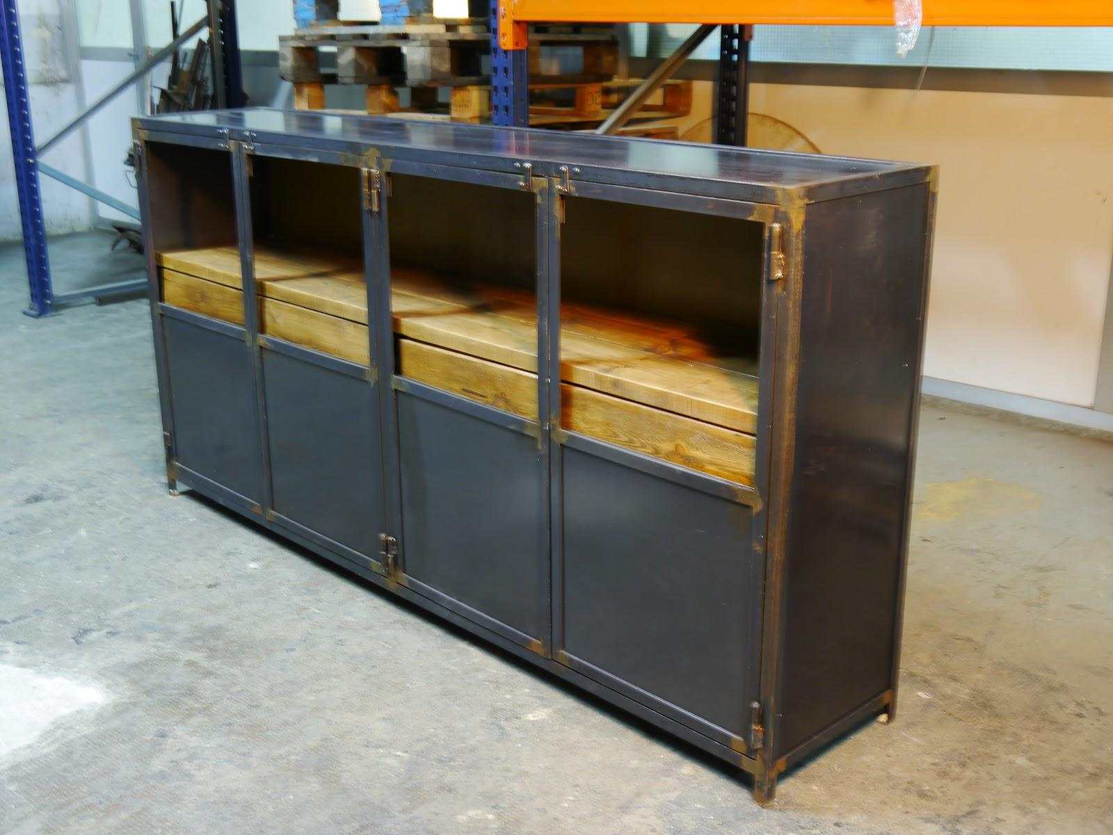 Armarios en hierro estilo vintage e industrial mesas y - Muebles de hierro ...