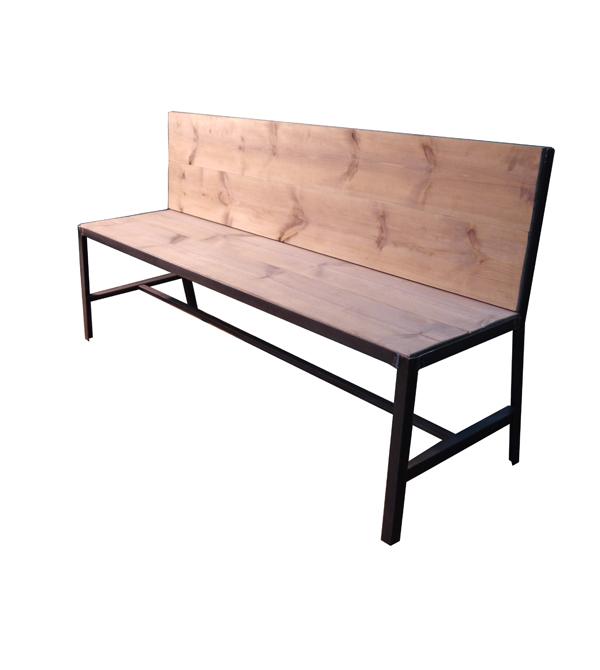 Bancos vintage muebles de acero corten mesas y sillas de for Mesa y sillas madera