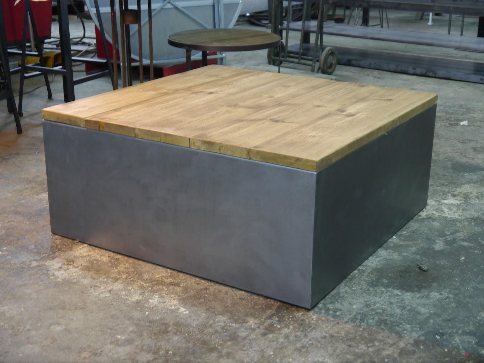 Vitrina de hierro y cajones mesas y sillas de estilo - Como hacer una mesa estilo industrial ...