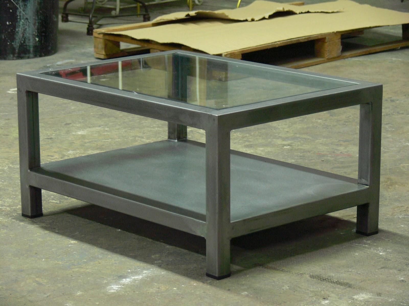 Mesa de hierro y cristal mesas y sillas de estilo - Mesa de hierro ...