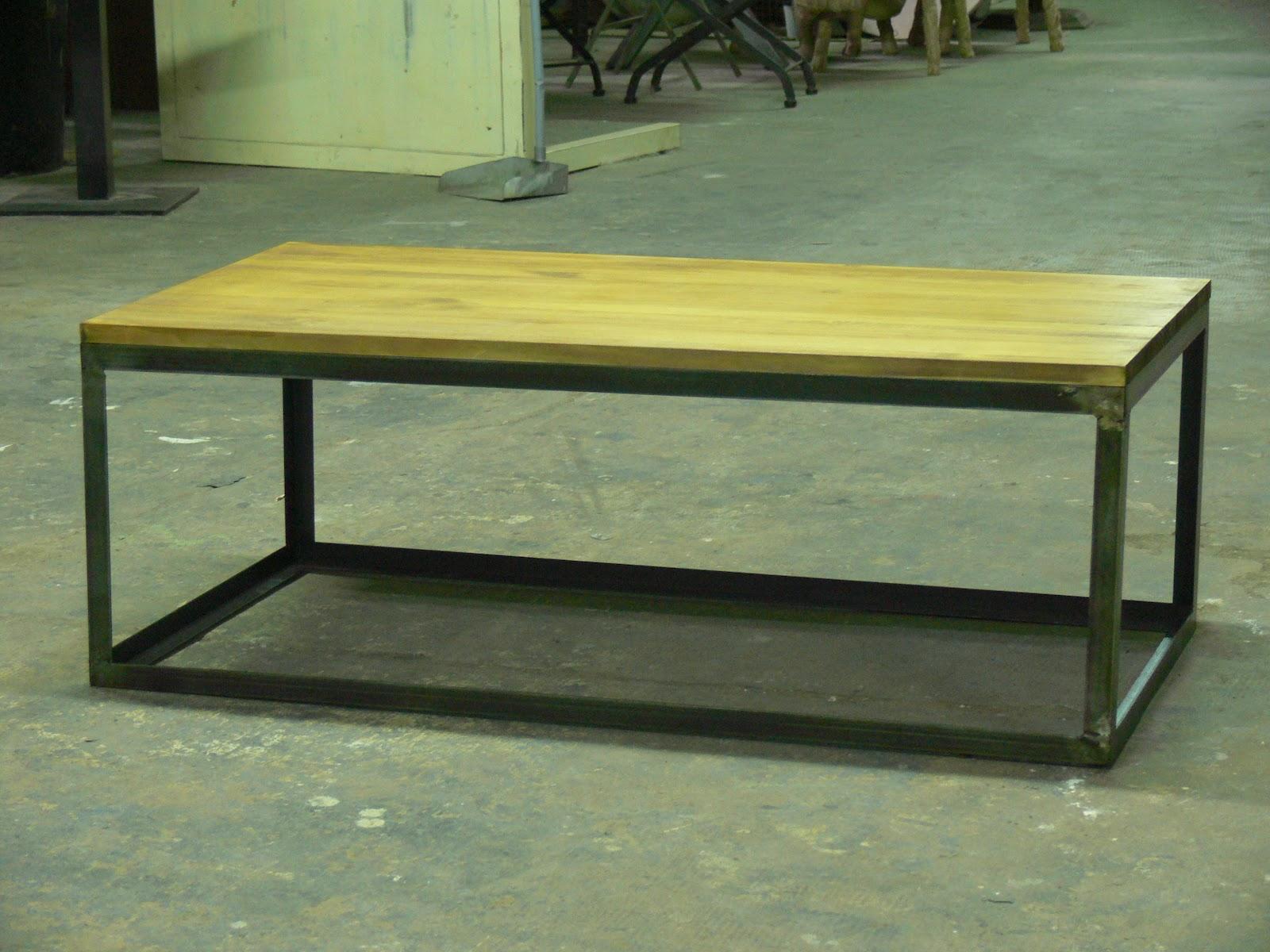 Mesas de centro de hierro y ruedas mesas y sillas de - Patas metalicas para mesas ...