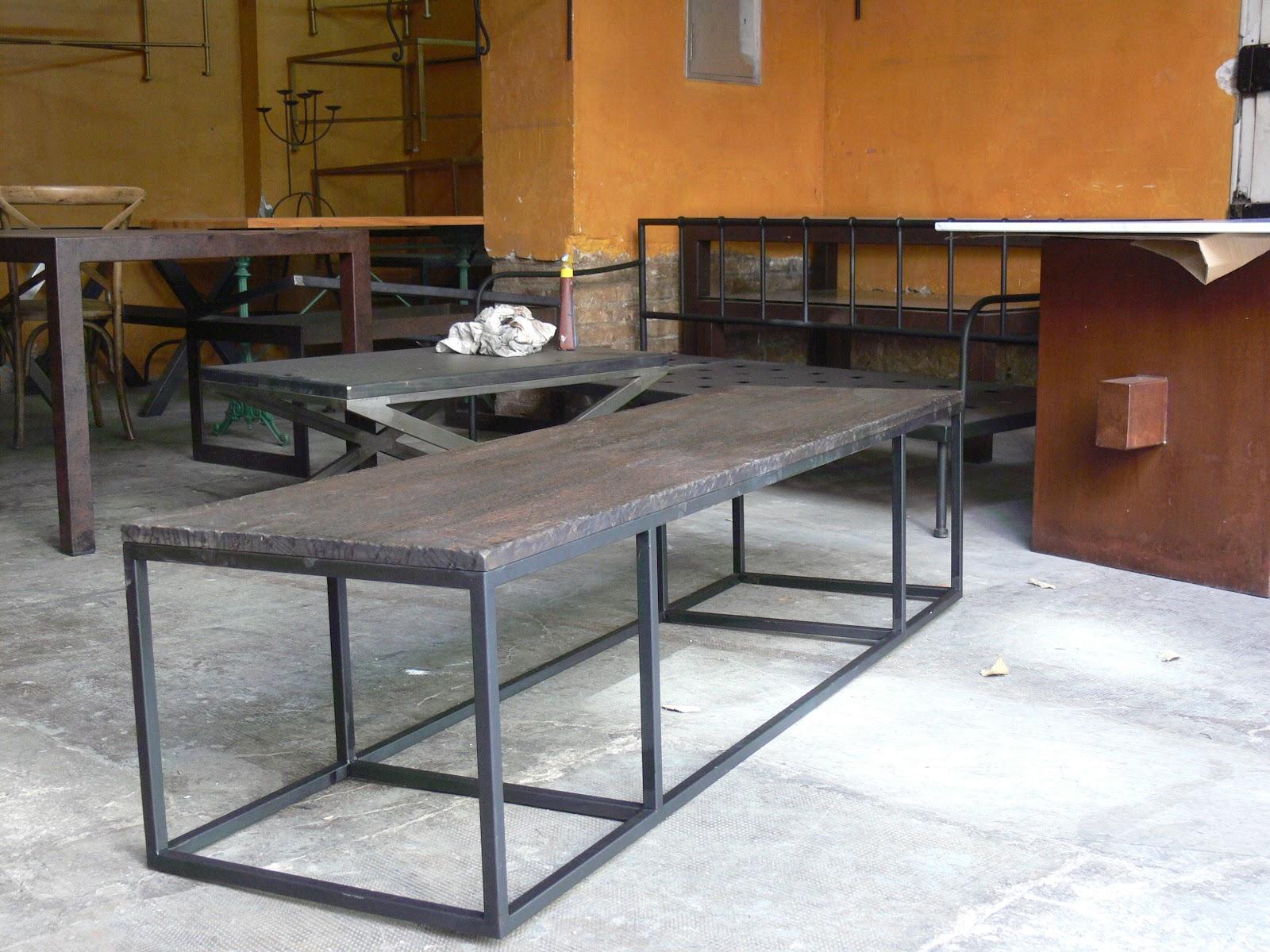 Mesa de centro industrial mesas y sillas de estilo for Mesa estilo industrial