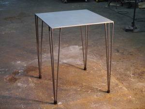 Mesa vintage varilla de hierro