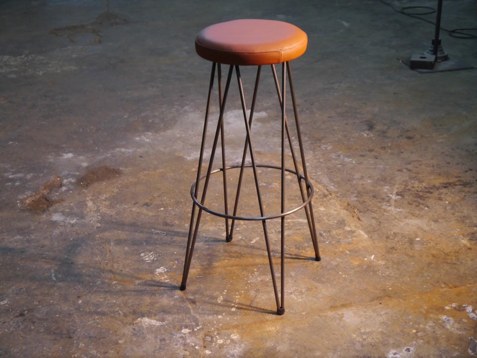 Mesas y sillas retro mobiliario vintage de estilo - Taburetes de piel ...