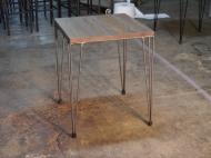 Mesa retro de hierro parahosteleria madera encolada