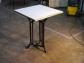 Mesa hierro marco Latón y mármol
