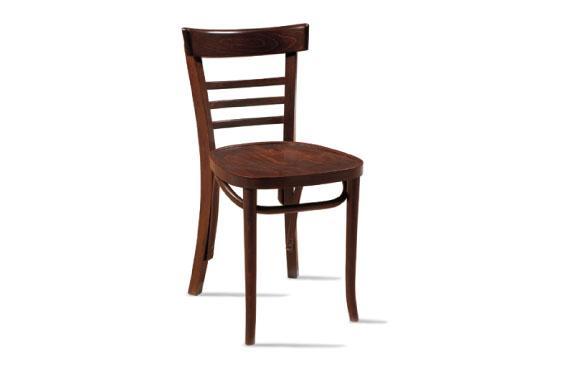 Silla de epoc a en madera de haya nogal mesas y sillas for Mesas y sillas para hosteleria