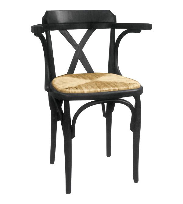 Sillon de madera y enea denver gr mesas y sillas de for Mesas y sillas para hosteleria